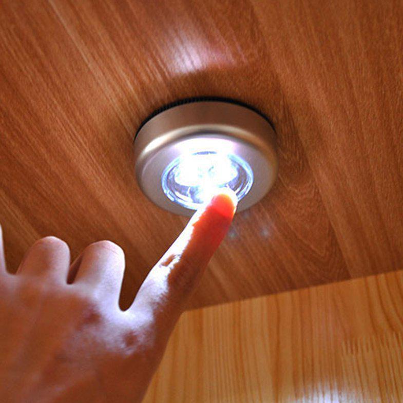 LED Batteriebetriebenes kabelloses Nachtlicht Tap Touch Lampe unter Schrank