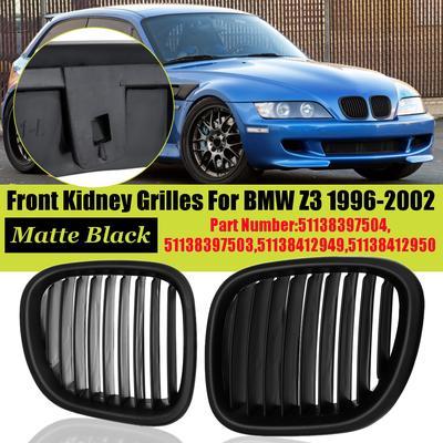 Coppia di griglie anteriori nere opache per E36 1997-1999