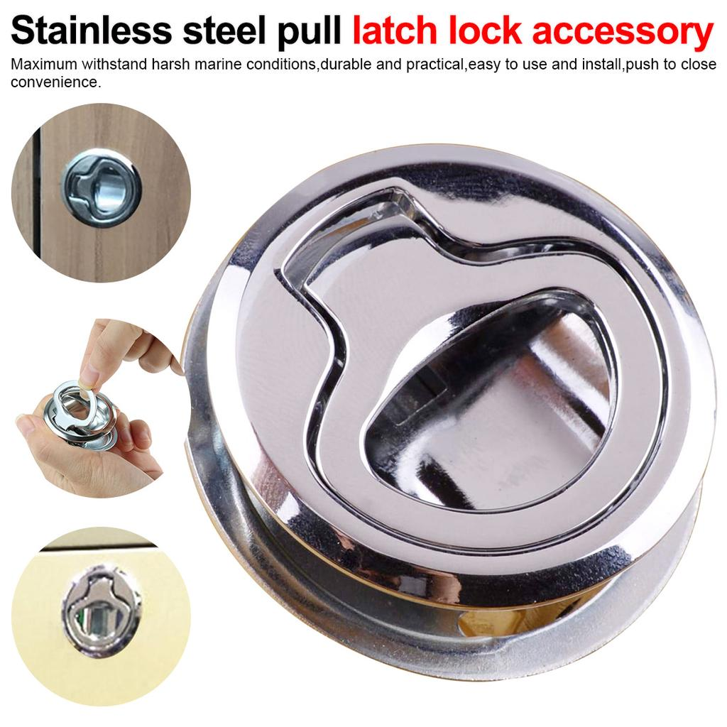 Marine Stainless Steel 316 Flush Pull Hatch Latch Lock 45mm Boat Yacht
