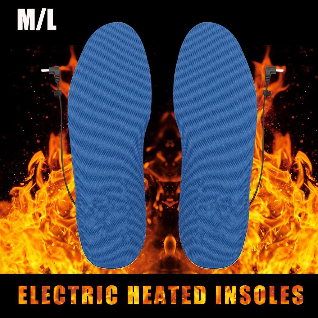 Details about  /Men Electric Heated Shoe Insoles Warm Socks Feet Heater USB Foot Winter 39-44
