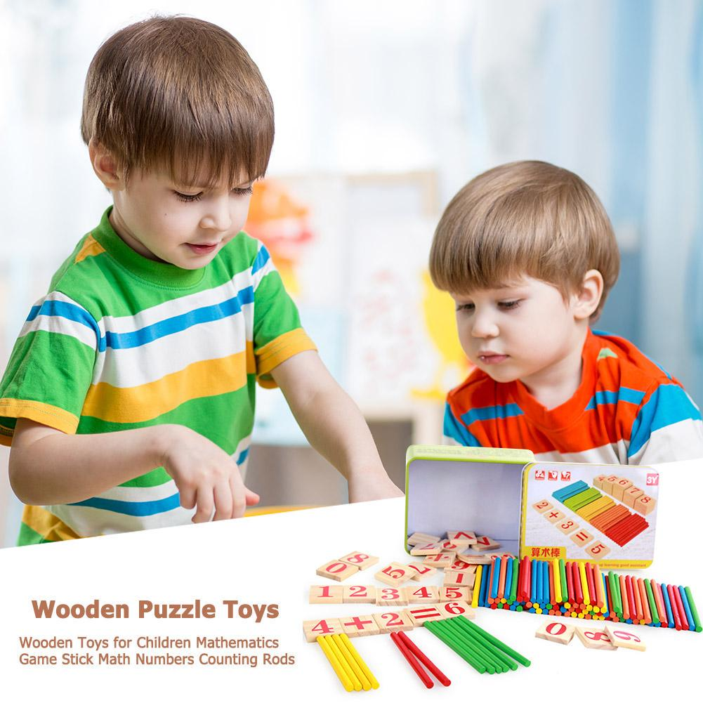 Kid Wooden Toys for Children Mathematics Game Stick Math Numbers Counting Rods