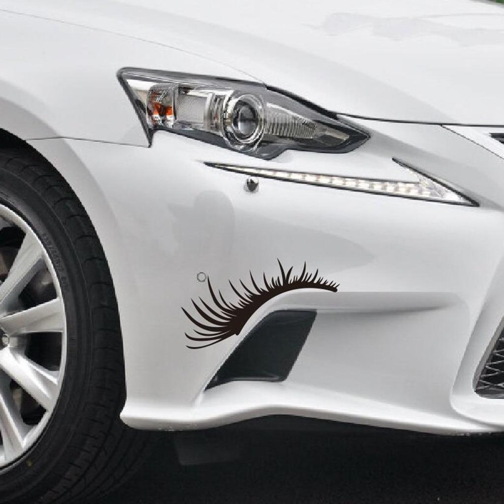 Car Headlights Stickers Black Car Eyelashes Car-Styling Decorative Sticker 2 pairs Car Eyelashes