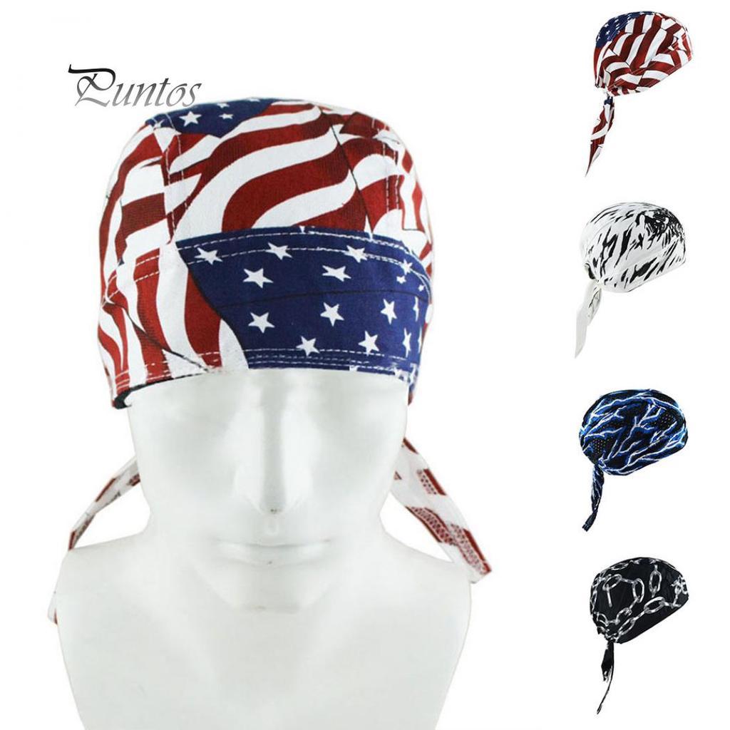 Outdoor Sports Biker Bike Cycling Pirate Hat Cap Tie Back Bandana Headband BS