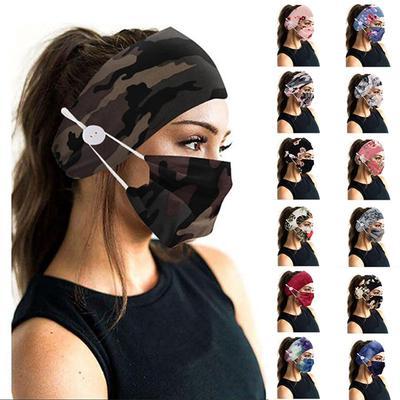 Unisex Camouflage Color Headband Mask Headscarf Head Accessories Yoga Sports Elastic Soft Headband Fashion Mask Headband Accessories