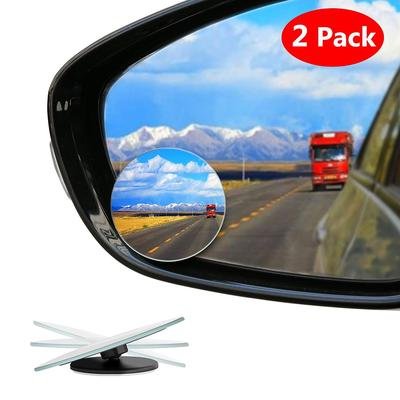 Accessories Adjustable HD Glass 360 Degree Rotation  Convex Blind Spot Mirror