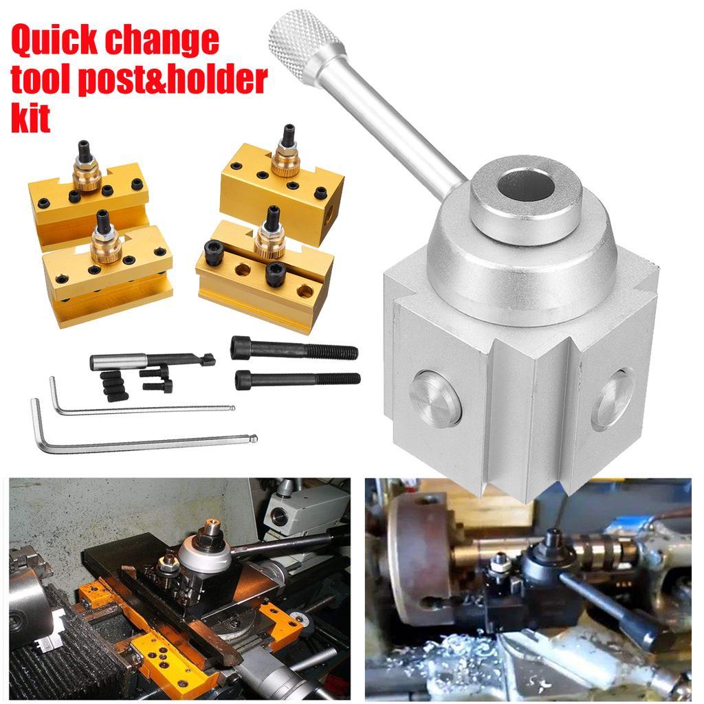 "1//4/""-1//2/"" Mini Lathe Quick Change Post Facing Milling Turning Tool Holder U2Y7"