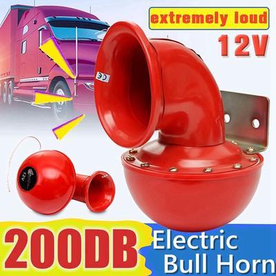 SUPER Loud ELETTRICA AD ARIA CORNO KIT AUTO 115db DUAL tono lumaca 12v