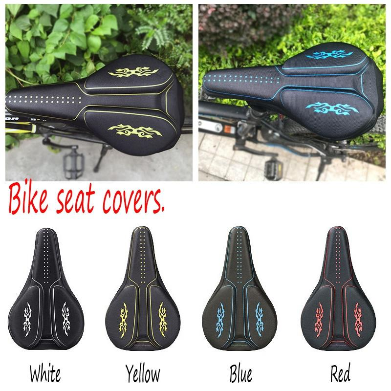 New Lightweight Bicycle Silicone Saddle Seat Cover Silica Gel Cushion Pad ER