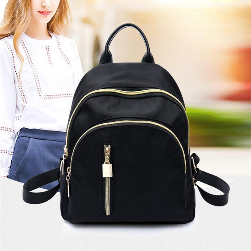 Женщины Ультралегкий Легкий Черный Мини Рюкзак водонепроницаемый Нейлон Малый рюкзак случайных моды – купить по низким ценам в интернет-магазине Joom