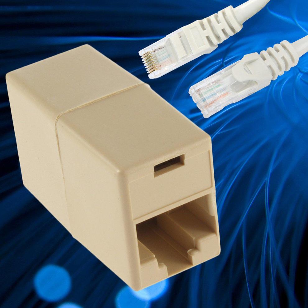 Neuen RJ45 CAT 5 5E Ethernet Lan Kabel Tischler Koppler Connector ...