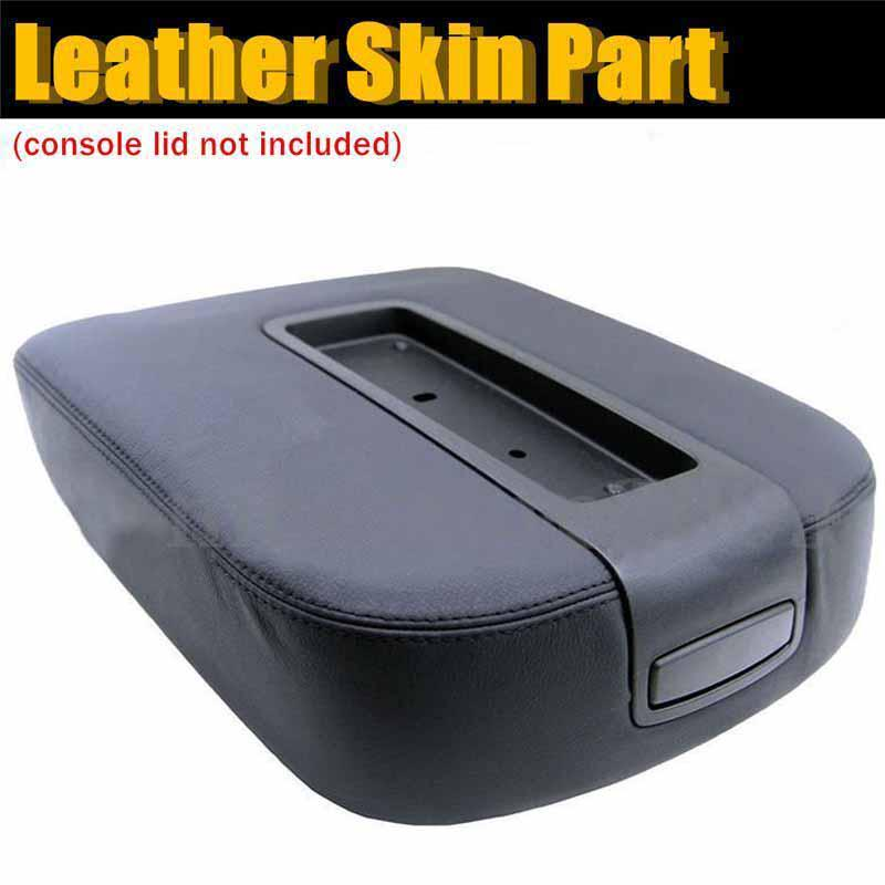 Fabric Center Console Lid Armrest Cover Protector Black Fits 07-13 Toyota Tundra