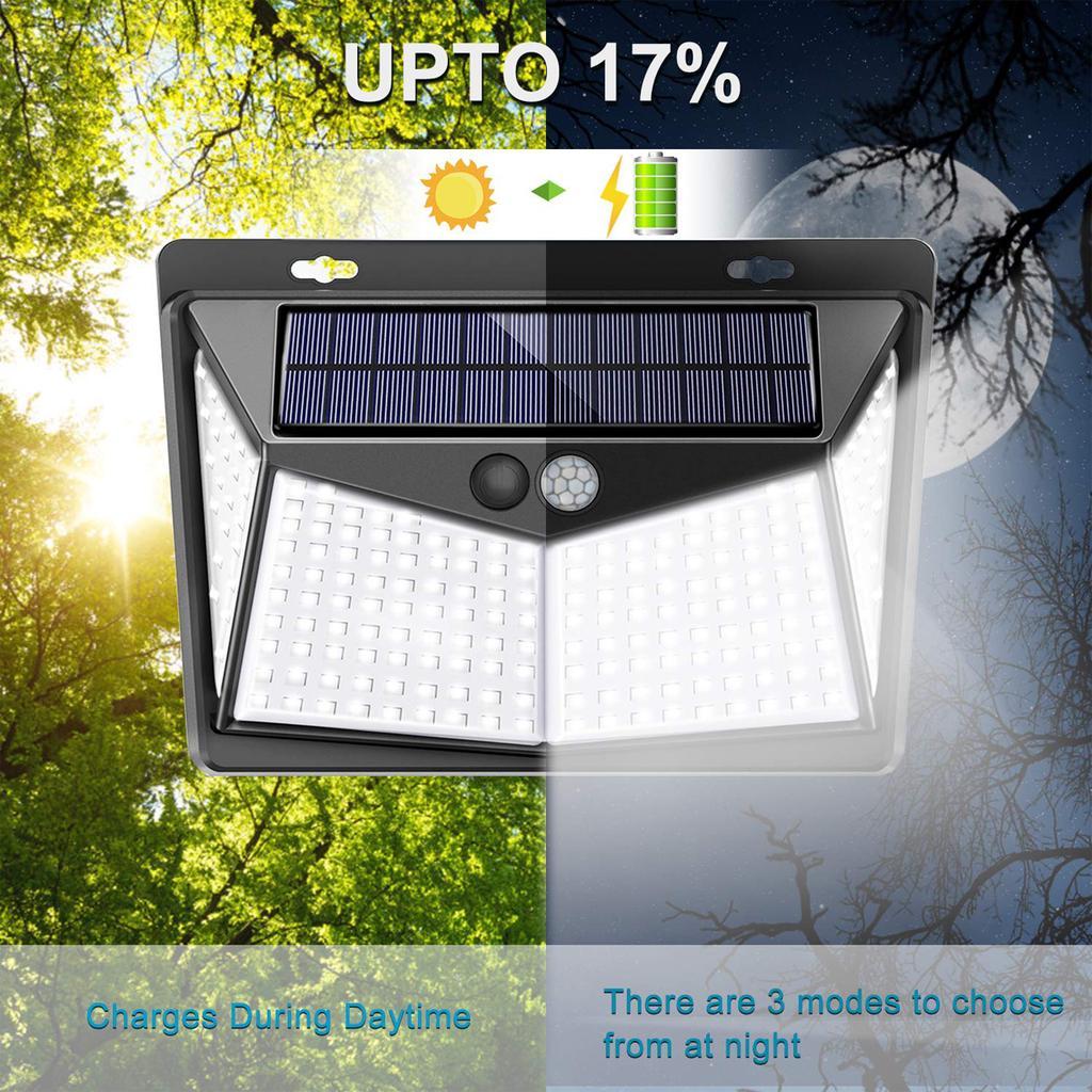 4X 54 LED Solar Powered Motion Sensor Wall Security Light Lamp Garden Outdoor