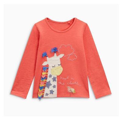 Baby Elephant Green Cotton Girl Toddler Long Sleeve Ruffle Shirt Top