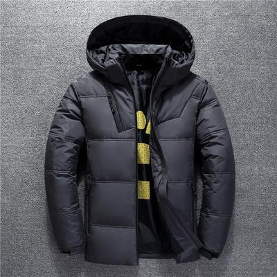 YONGM Mens Hooded Thicken Loose Zipper Quilted Parka Down Coat Puffer Jacket