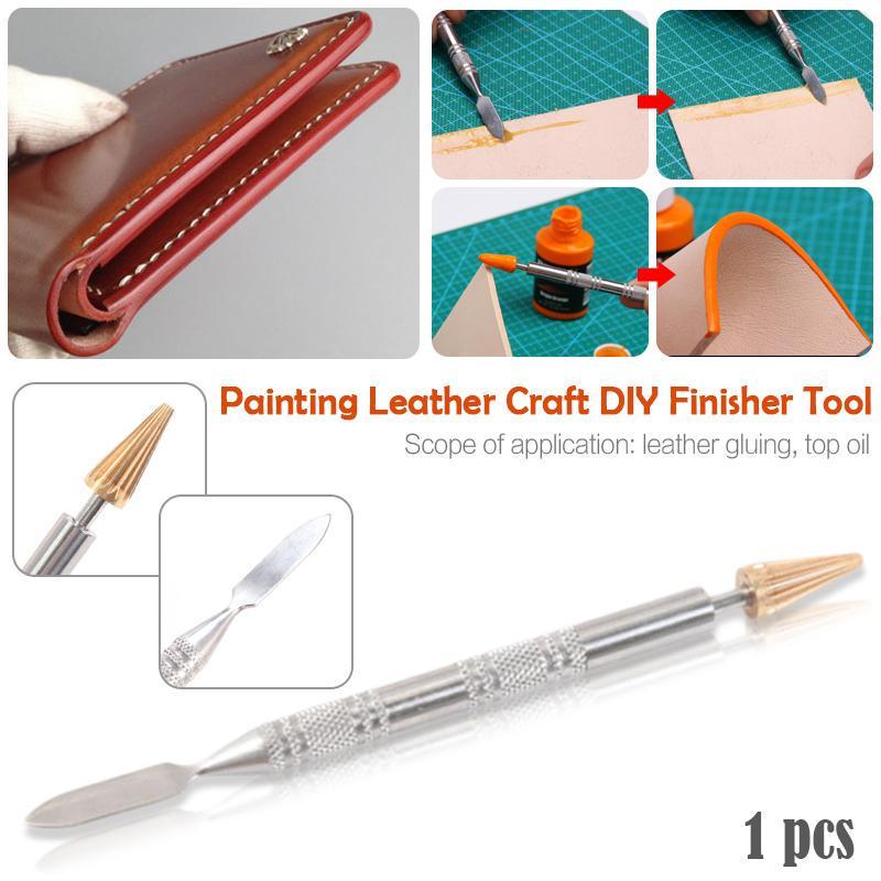 Leather Edge Paint Roller Craft Edge Dye Oil Pen Applicator Belt Finisher Tools