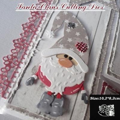Santa Paper Crafts Scrapbooking Template Molds Christmas Embossing Stencils