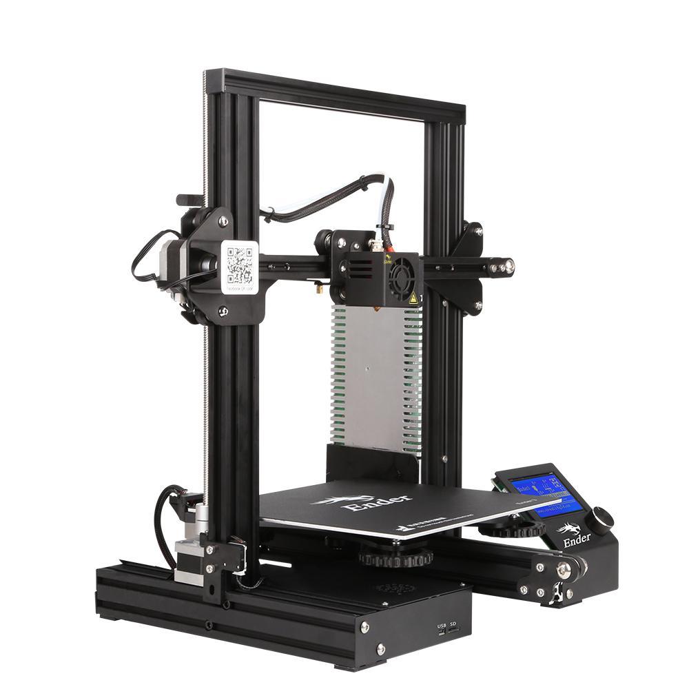 DIY 3D printer creality3d ender - 3 v-slot prusa i3 DIY 3D printer kit 220  x 250mm mk10 extruder