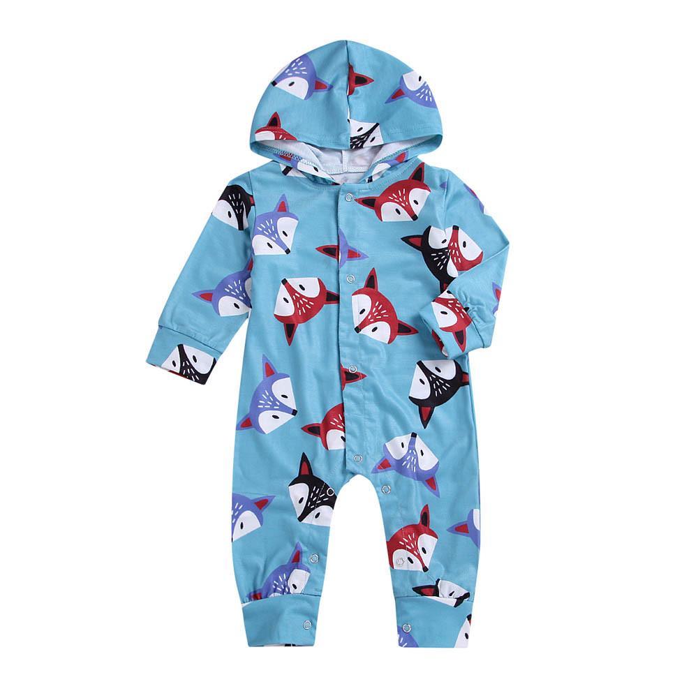 Toddler Baby Girls Boys Beer Ears Hoodie Winter Rompers Long Zipper Jumpsuit UK