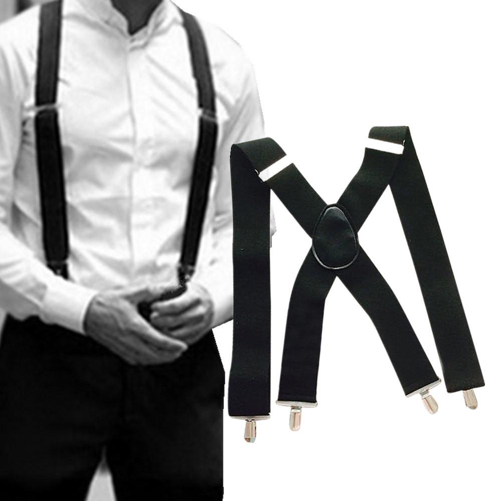 Men Braces Suspenders Women Y Back Trousers Heavy Duty Clip On Retro Unisex Hot