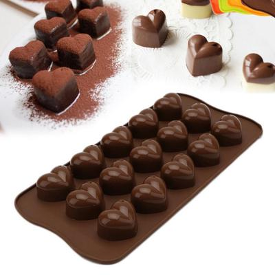 New Silicone Heart Shape Chocolate Mold Candy Biscuit Cookies Cake Baking Mould