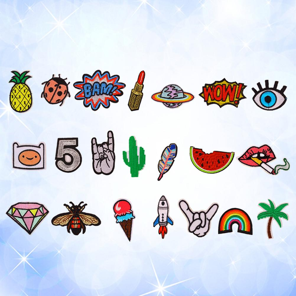10x Cute Fruits Patches Clothes Bag Sequins Decor Applique Sewing On Accessories