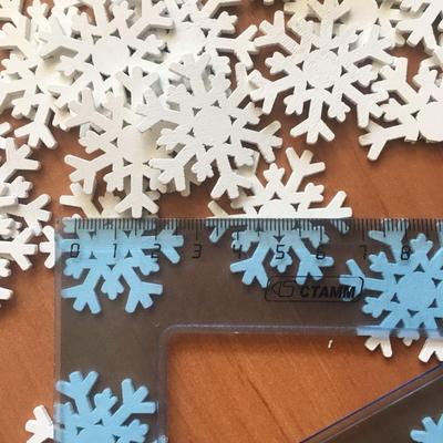 Buttons New 50pcs Christmas Holiday Wooden Collection Snowflakes Buttons Snowflakes Embellishments 18mm Creative Decoration Fixing Prices According To Quality Of Products Arts,crafts & Sewing