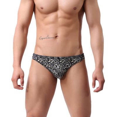 bd7423b567fa Men's Breathable Underpant leopard printed Underwear low waist Sexy  Comfortable briefs