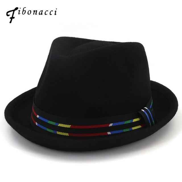 c8e88e87a9956 Wool Fedoras Trilby Hats for Women Men Manhattan Structured Gangster ...