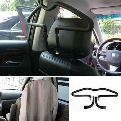 Beige Adjustable Car Coat Hanger Jackets Clothes Rack Hook Suit Shirts Holder
