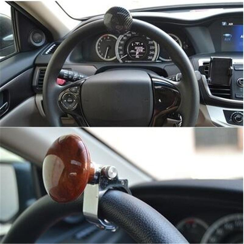 Brown Hickory Car Auto Steering Wheel Suicide Spinner Handle Knob Booster Wood