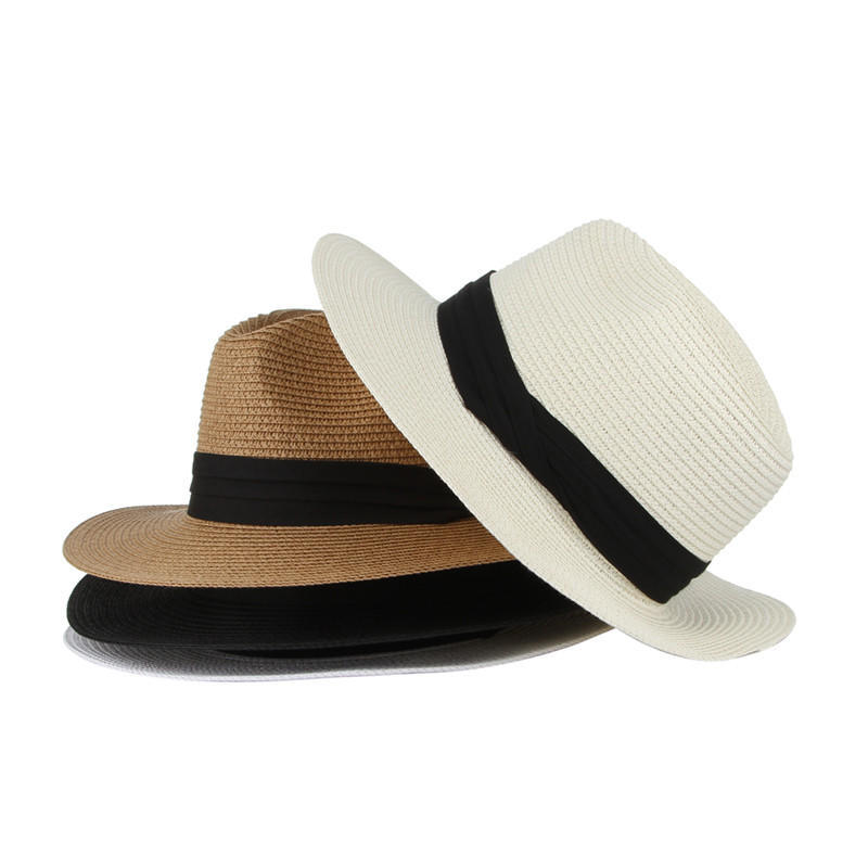 45f0d06c7db Solid Straw Hats Men Summer Hat Handmade Knitted Beach Caps Gentleman Jazz  Hat Church Cap-buy at a low prices on Joom e-commerce platform
