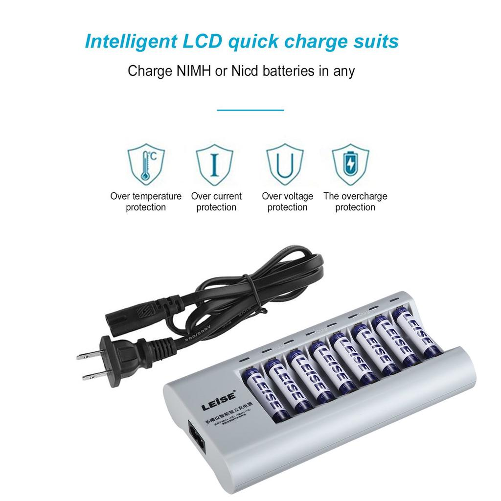 Cc Leise 728 Smart Rechargeable Battery Charger Adapter For Aa Aaa How To Make A Nimh Nicd Circuit Homemade 1 Of 8