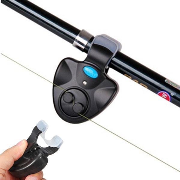2pcs Portable Electronic LED Light Fish Bite Sound Alarm Alert Bell Clip On Fish