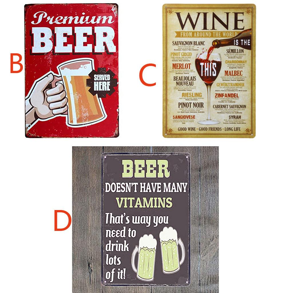 Retro Vintage Metal Tin Signs Poster Wall Plaques Plate Bar Club Home Art Decor