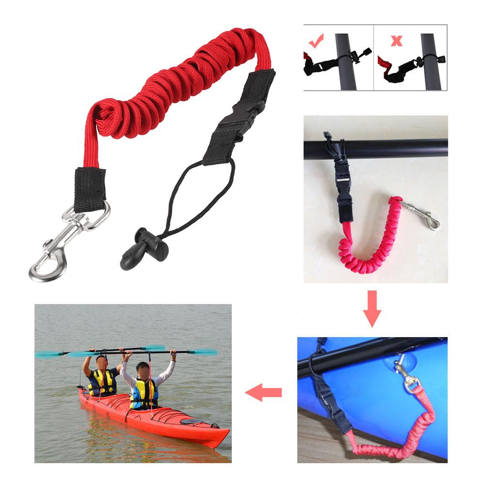 Palm Paddle Leash Strap Coiled Kayaking