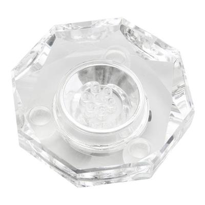 Colorful Light S Lamp Display Stand,LED Light Lamp Display Stand Crystal Glass Art Base Holder US Plug 100-240V