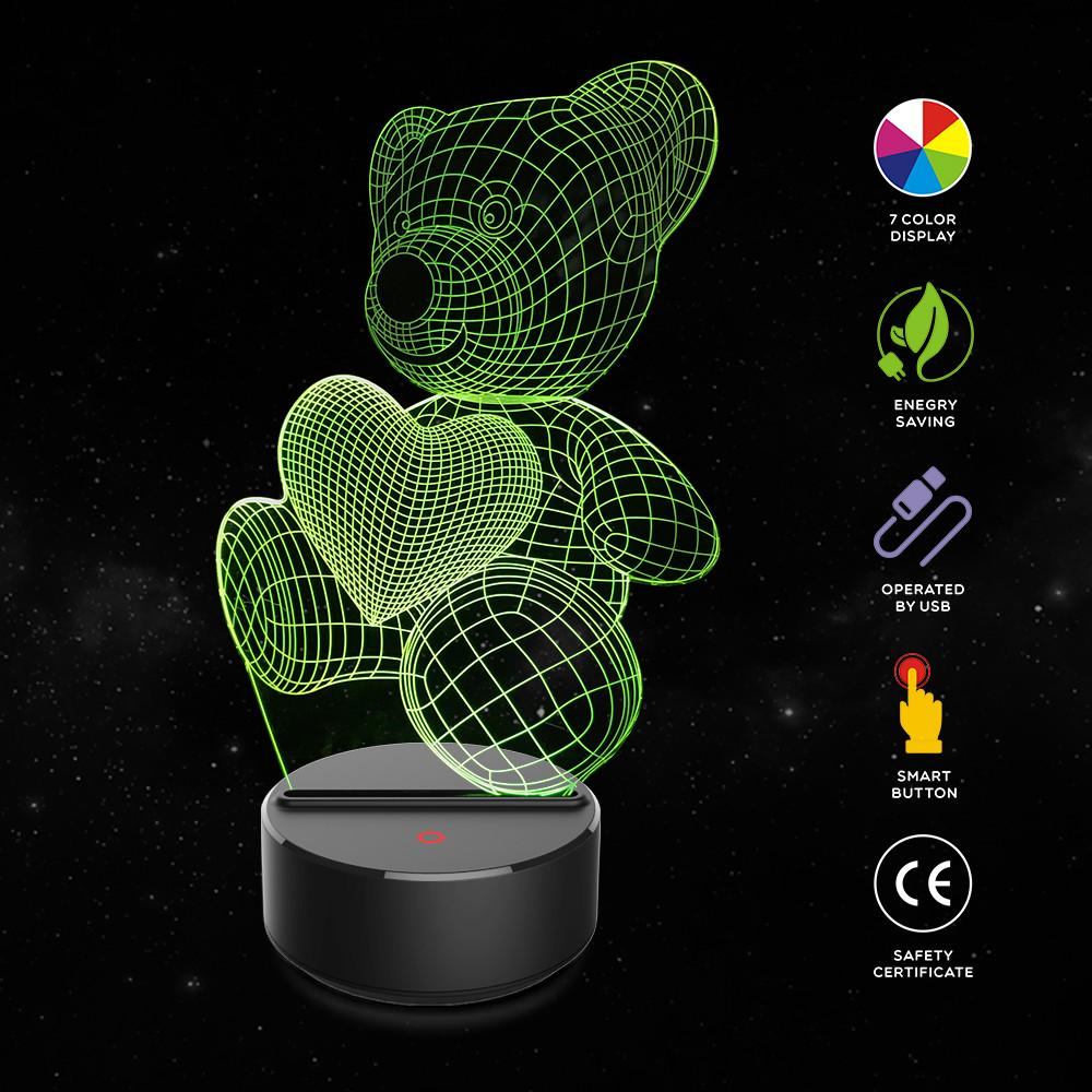Table Optical Illusion Decoration Hotel Home Gifts 3d Butterfly Pub 7 Colors Change Led Night Light Smart Restaurant Desk Lamp Lights & Lighting