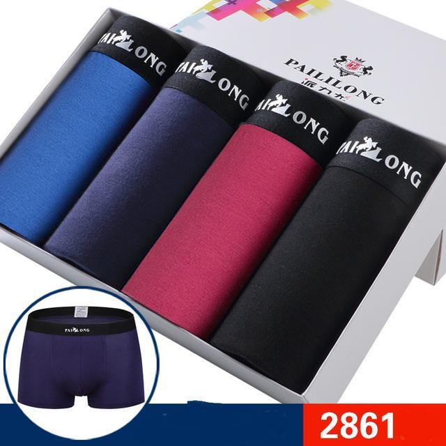6e9b61136056 4Pack regalo masculino ropa interior hombres boxeadores Classic Print  Designer moda modal chico boxeador pantalones cortos bragas - comprar a  precios bajos ...