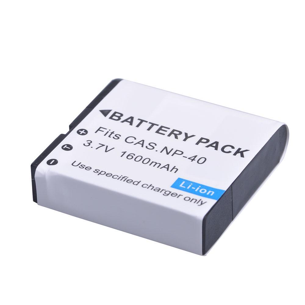 1 Pcs 1200mAh Batería NP-40 NP40 con una sola batería cargador para FinePix 455 F10