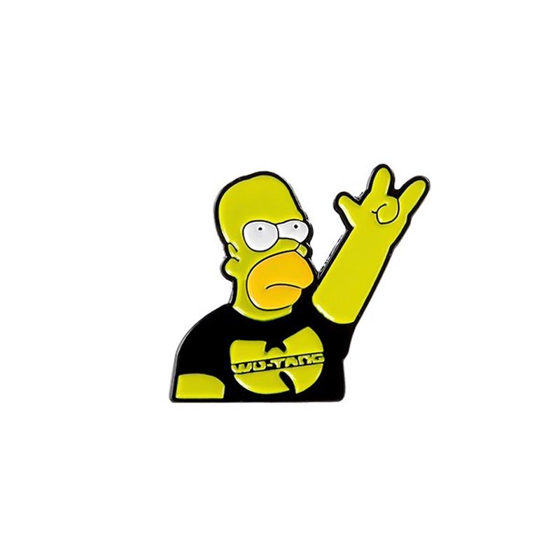 Homer Simpson Wu Tang Enamel Pin Hip Hop Rap Rock Badge Fashion Lapel Pin For Rock Band Fans Buy At A Low Prices On Joom E Commerce Platform