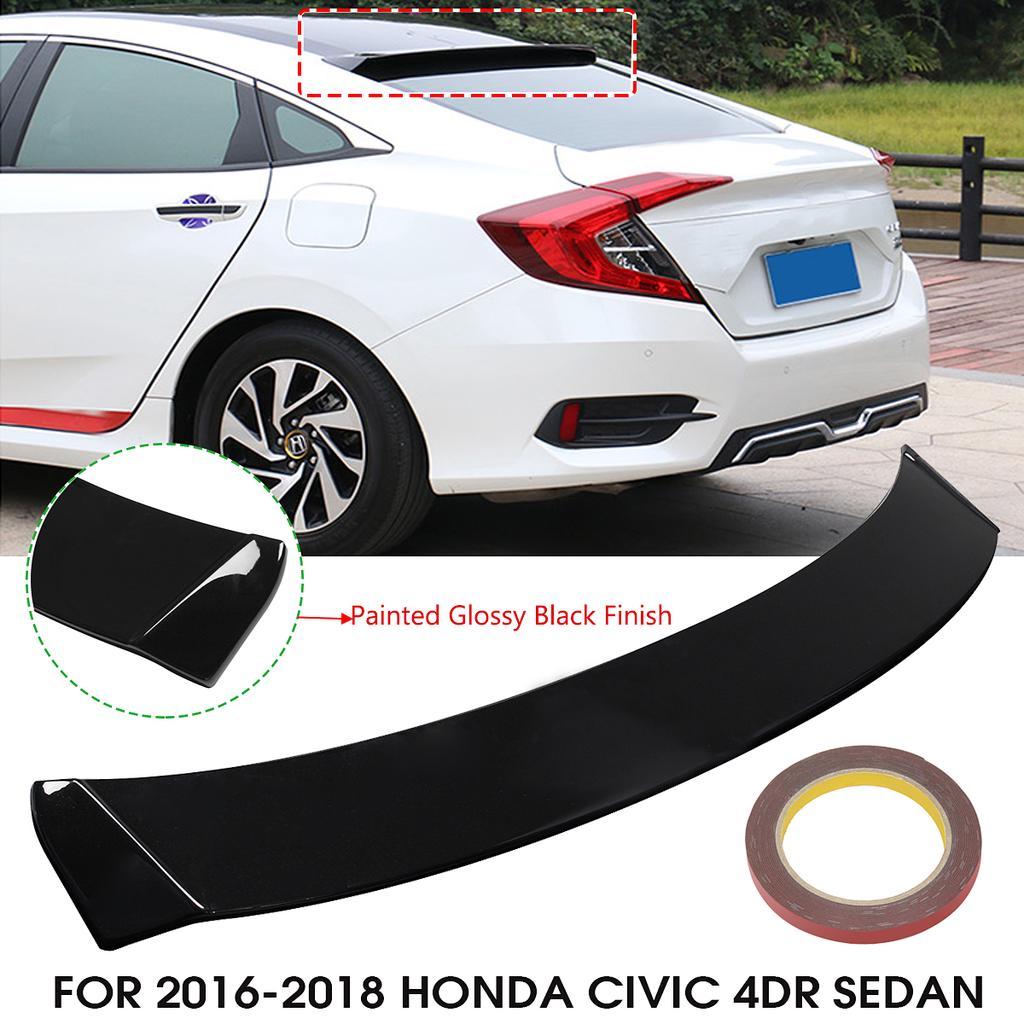 Clever Car Rear Window Roof Spoiler Wing Visor Glossy Black For Honda For Civic 4dr 2016 2017 2018 4 Door Sedan All Models Spoilers & Wings Automobiles & Motorcycles