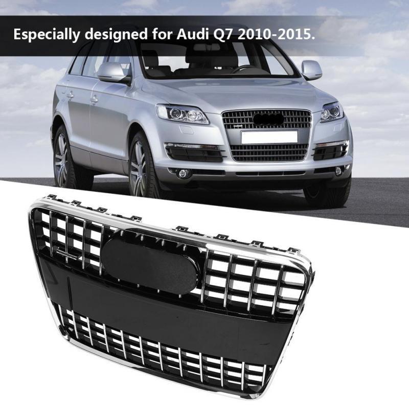 2pcs Front Bumper Left+Right Lower Grilles Vent Suitable For Audi Q7 2010-2015