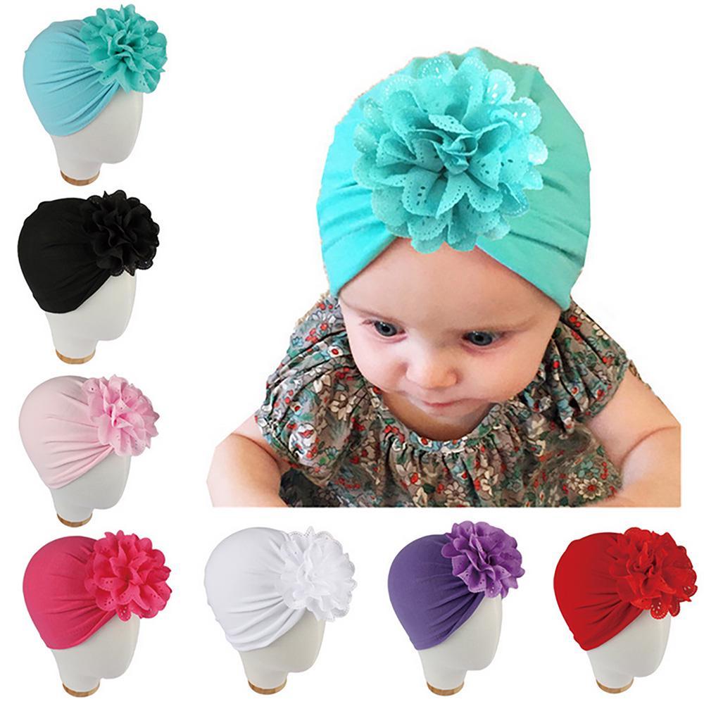 Baby Turban felt flower Baby Hat Turban Hat