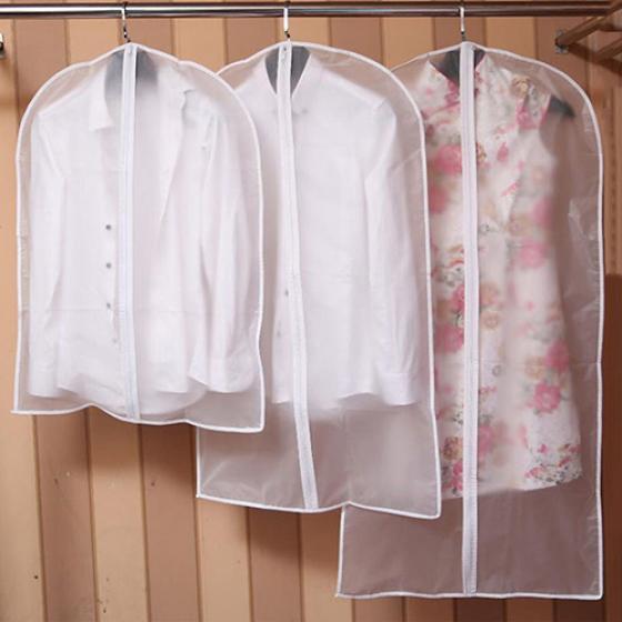 5 Antidust Suit Covers Long Dress Cover Storage for Skirt Garment Coat Shirt Bag