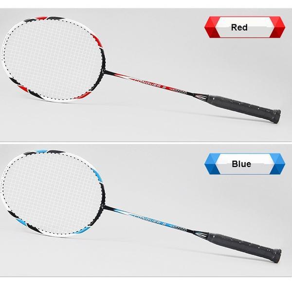 Nouveau 2 x TITANE CARBONE Badminton Raquettes Avec Sac