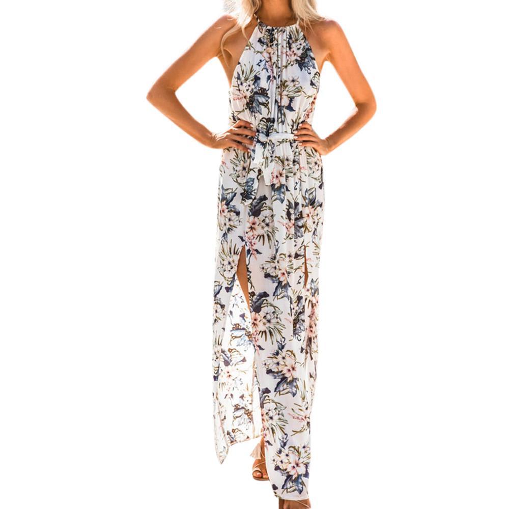 1b862965c Vestido Floral para mujer verano largo Maxi noche fiesta impresión ...