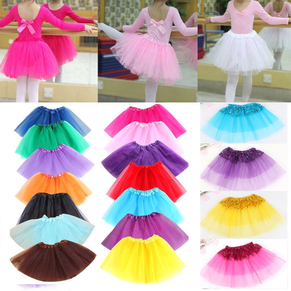 Cute Baby Girl Kid Solid Tutu Ballet Dance Skirt Fancy Party Skirt Mini Dress KN