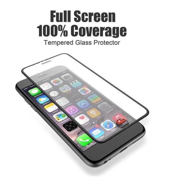 全覆盖钢化玻璃萤幕保护贴彩色边框IPHONE 6 6S PLUS