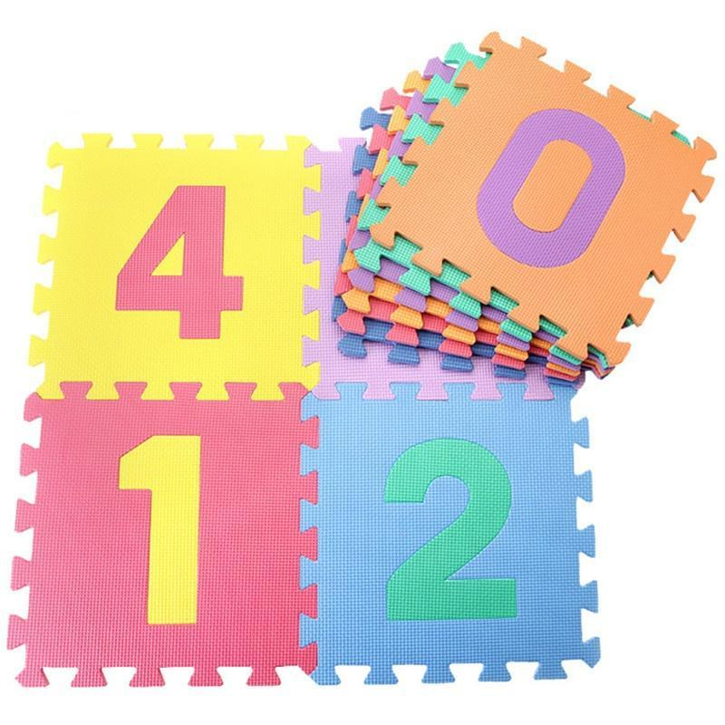 Baby Soft EVA Foam Play Mat Alphabet Numbers Puzzle DIY Toy 10pcs//Set New