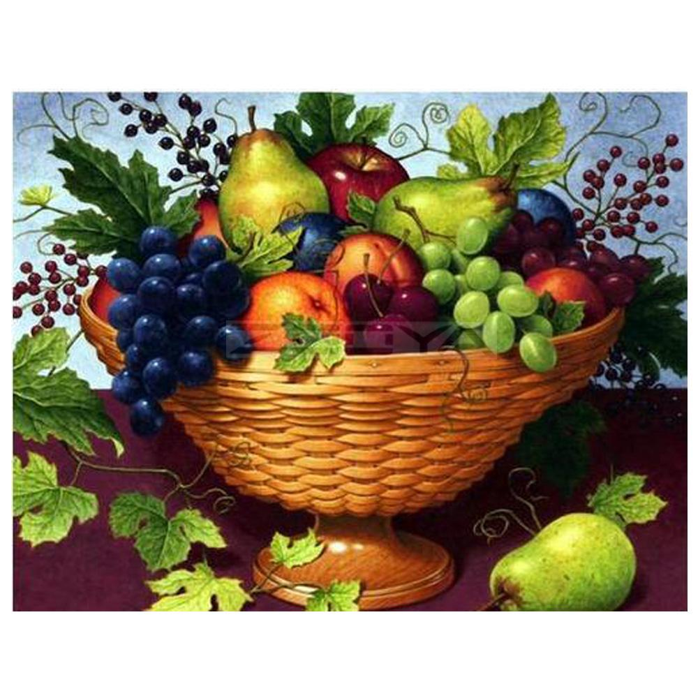 5d Diy Full Drill Diamond Painting Kitchen Food Fruit Basket Grape Embroidery Home Decoration Gifts Buy From 5 On Joom E Commerce Platform